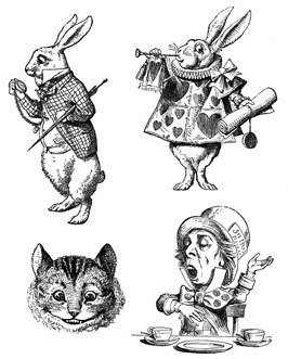 Rabbits, Cat Face, Hatter