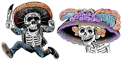 Day of the Dead Man and Woman