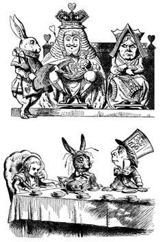 Alice, Tea Party, King and Queen