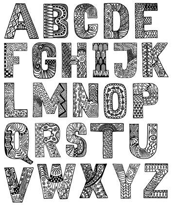A Alphabet Design Cling-vinyl cushion $24.00