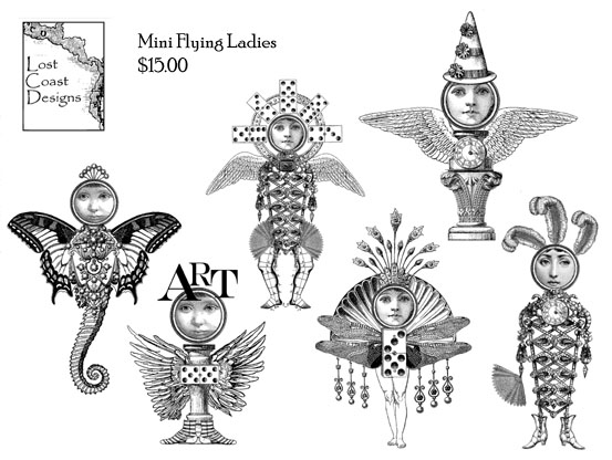 Mini Flying Ladies Set