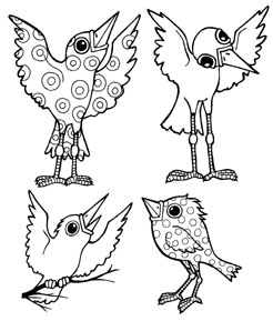 Mini Whimsical Birds 2