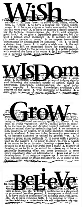 Wish Wisdom Grow Believe