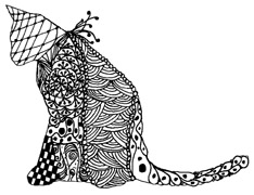 Zentangle Cat