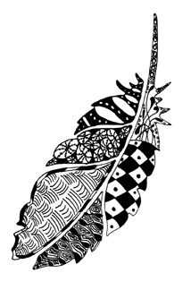 Zentangle Feather 1