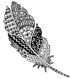 Zentangle Feather 2