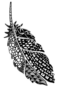 Zentangle Feather 3